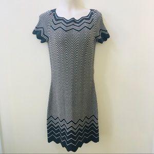 Tory Burch Zig Zag Sweater Dress Sz S